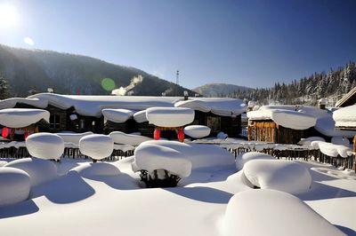 哈尔滨、雪乡穿越、魔界、镜泊湖、滑雪、长白山、雾凇岛激情7日东北行