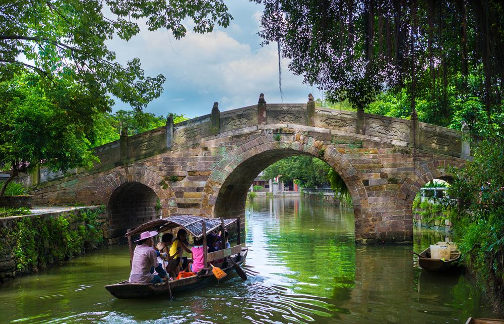 中国最美村镇周庄逢简水乡、清晖园美食、均安蒸猪